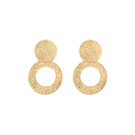 CLASSY CIRCLES STRUCTURE GOLD SMALL - HINTH