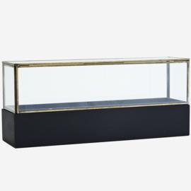 GLASS BOX W/ WOODEN BASE 40 CM