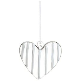 GLASS HEART HANGER SMALL