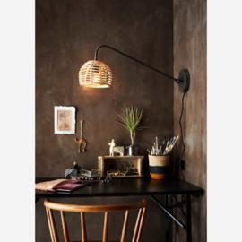 WALL LAMP WITH BAMBOO SHADE