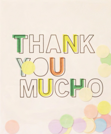 CONFETTI CARD THANK YOU  - THE GIFT LABEL