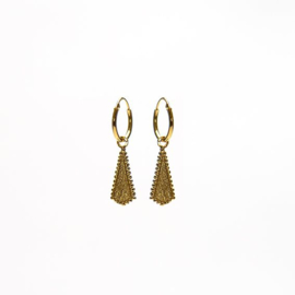 HOOPS DOTY CONE GOLDPLATED - KARMA
