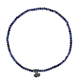 A FINE ROCKS BRACELET FACET SODALITE - PIMPS AND PEARLS