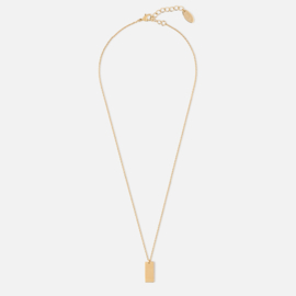 CLEAN TAG CHARM NECKLACE GOLD - ORELIA