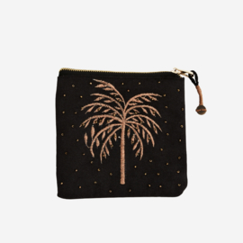 EMBROIDERED COTTON PURSE W/ BEADS