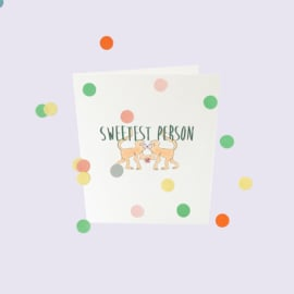 CONFETTI CARD BABY 'SWEETEST PERSON' - THE GIFT LABEL