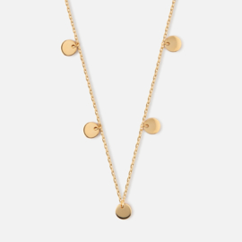 MULTI DISC DROP NECKLACE - ORELIA