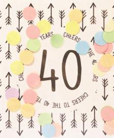 CONFETTI CARD 40 - THE GIFT LABEL