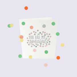 CONFETTI CARD BABY 'YOU ARE MY SPECIAL' - THE GIFT LABEL