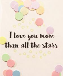 CONFETTI CARD LOVE YOU - THE GIFT LABEL