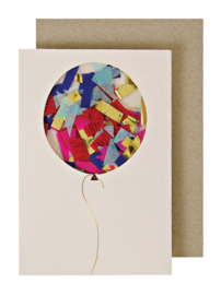 BALLOON CONFETI ENCLOSURE CARD  - MERI MERI