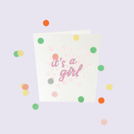 CONFETTI CARD BABY 'IT'S A GIRL' - THE GIFT LABEL
