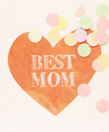 CONFETTI CARD BEST MOM - THE GIFT LABEL