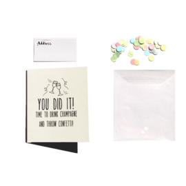 CONFETTI CARD HELLO FRIEND  - THE GIFT LABEL
