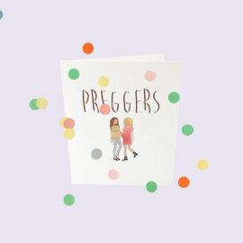 CONFETTI CARD BABY 'PREGGERS' - THE GIFT LABEL