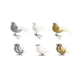 GLITTER BIRDS ON CLIP SET OF 6 - &KLEVERING