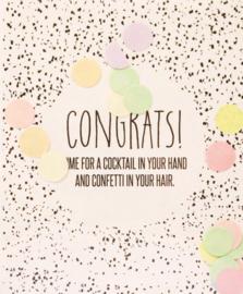 CONFETTI CARD CONGRATS - THE GIFT LABEL