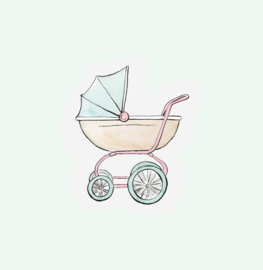CUT OUT CARD STROLLER - THE GIFT LABEL