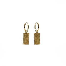 HOOPS DOTY RECTANGLE GOLDPLATED - KARMA