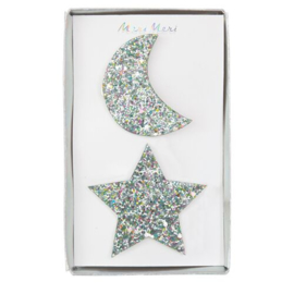 STAR & MOON HAIR CLIPS - MERI MERI