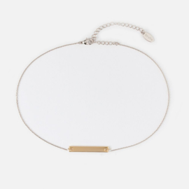 MIXED PLATE BAR CHOKER - ORELIA