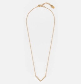 V PENDANT NECKLACE GOLD - ORELIA
