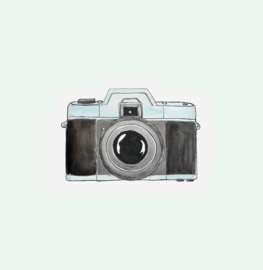 CUT OUT CARD CAMERA - THE GIFT LABEL