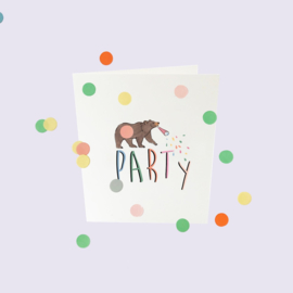 CONFETTI CARD BABY 'PARTY' - THE GIFT LABEL