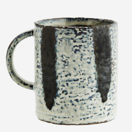 STONEWARE MUG WITH STRIPES