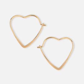 SMALL HEART HOOP EARRING GOLD - ORELIA
