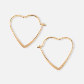 SMALL HEART HOOP EARRING GOLD - ORELIA
