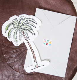 CUT OUT CARD PALM TREE - THE GIFT LABEL