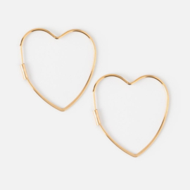 MEDIUM HEART HOOP GOLD - ORELIA