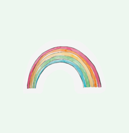 CUT OUT CARD RAINBOW - THE GIFT LABEL