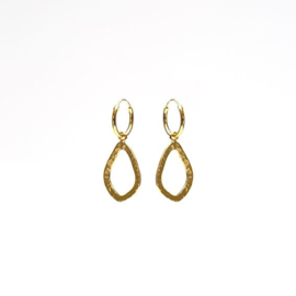 OPEN OVAL HAMMERED GOLDPLATED  - KARMA