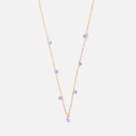 FINE AMETHYST DROP NECKLACE- ORELIA