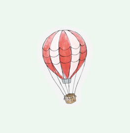 CUT OUT CARD HOT AIR BALLOON - THE GIFT LABEL
