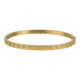 BANGLE BLOKJES 4MM GOUD - KALLIKALLI