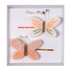 BUTTERFLY HAIR SLIDES - MERI MERI