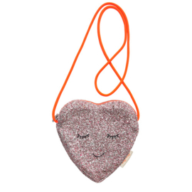 GLITTER HEART BAG - MERI MERI
