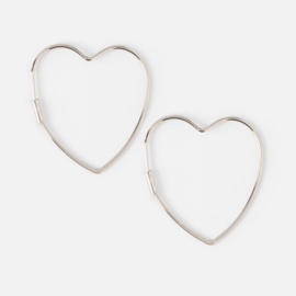 MEDIUM HEART HOOP SILVER - ORELIA