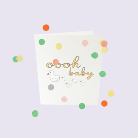 CONFETTI CARD BABY 'OOOH BABY' - THE GIFT LABEL