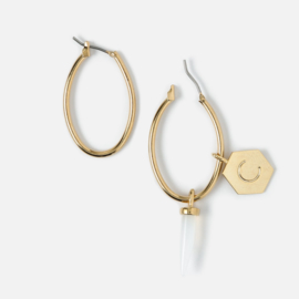 EDIT OVAL HOOP EARRINGS - ORELIA