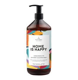 KITCHEN CLEANING SOAP HOME IS HAPPY - THE GIFT LABEL