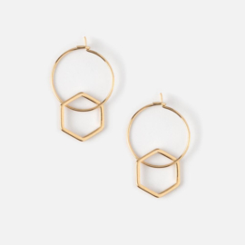 METAL BEADED HOOP GOLD - ORELIA