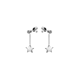 CHAINSTUDS ZIRCONIA STAR SILVERPLATED - KARMA