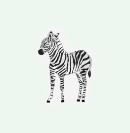 CUT OUT CARD ZEBRA - THE GIFT LABEL