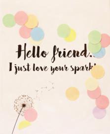 CONFETTI CARD HELLO FRIEND  - THE GIFT LABEL