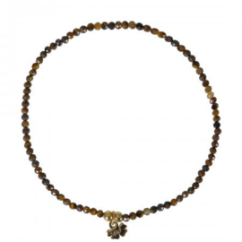 A FINE ROCKS BRACELET FACET TIGER EYE - PIMPS AND PEARLS