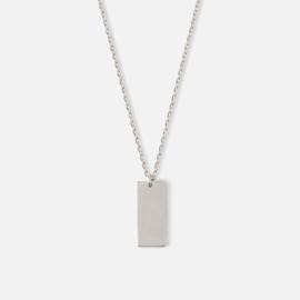 CLEAN TAG CHARM NECKLACE SILVER - ORELIA